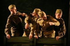 演奏的观众-第二次世界大战的退休人员、年长退伍军人和他们的亲戚 免版税库存图片