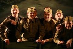 演奏的观众-第二次世界大战的退休人员、年长退伍军人和他们的亲戚 免版税图库摄影