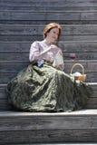 演奏莎士比亚的女演员 免版税库存照片