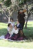 演奏莎士比亚的演员 免版税库存照片