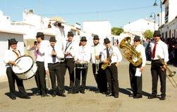 演奏街道的音乐家 库存照片