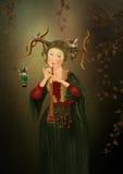 演奏长笛的女孩 免版税库存照片