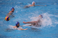演奏马球水的活动人 免版税库存照片