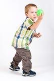 演奏年轻人的男孩 库存照片