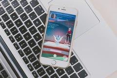 演奏Pokemon去比赛 库存照片