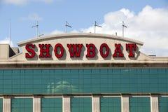 演戏船赌博娱乐场在大西洋城,新泽西 免版税库存照片