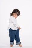演播室三岁的亚裔婴孩画象射击-被隔绝 免版税图库摄影