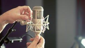 演播室声音Mic 股票视频