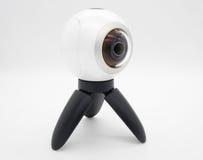 演播室射击了虚拟现实360度照相机 免版税库存图片