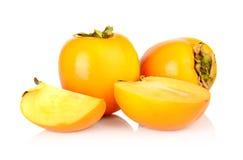 演播室射击了许多亚洲柿树切了白色 库存图片