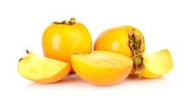 演播室射击了许多亚洲柿树切了白色 免版税库存照片