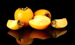 演播室射击了许多亚洲柿树切了黑色 免版税图库摄影
