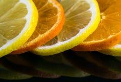 演播室射击用柠檬和桔子 图库摄影
