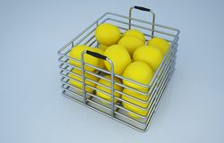 演播室柠檬果子照片 库存例证
