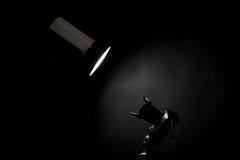 演播室闪光和一台照片照相机 免版税图库摄影