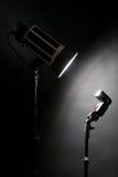 演播室闪光和一台照片照相机 免版税库存照片