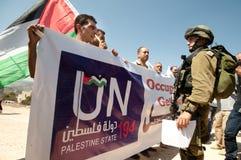 演示巴勒斯坦人国家地位 库存照片