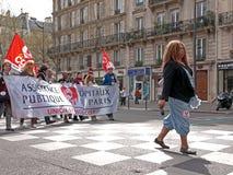 演示巴黎 免版税图库摄影