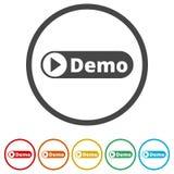 演示标志,演示象,包括的6种颜色 库存例证
