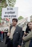 演示法国伊朗人巴黎 库存图片