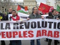 演示法国利比亚巴黎 图库摄影