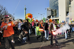 演示法国法语劳动巴黎联盟 库存图片