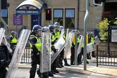 演示警察抗议者 库存照片
