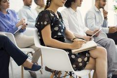 演讲和训练在营业所 免版税库存照片