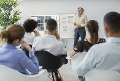演讲和训练在营业所 免版税库存图片