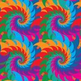 漩涡五颜六色的对称无缝的样式 库存例证