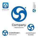 漩涡创造性的商标现代时髦的身分品牌标志象企业概念集合模板 库存照片