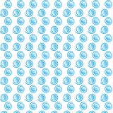 漩涡原始的蓝色样式 库存例证