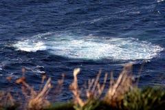 漩涡在海 免版税库存照片