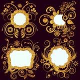 漩涡花卉框架 图库摄影