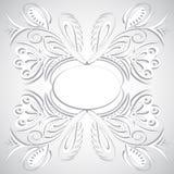 漩涡花卉设计 库存照片