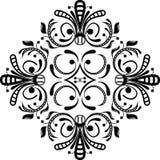 漩涡花饰向量 免版税图库摄影