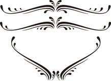 漩涡花饰装饰滚动向量 库存照片