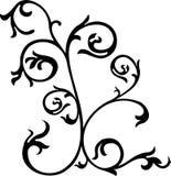 漩涡花饰装饰滚动向量 免版税库存照片