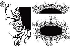 漩涡花饰装饰滚动向量 免版税图库摄影