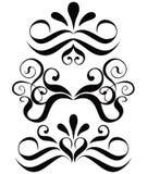 漩涡花饰装饰滚动向量 库存图片