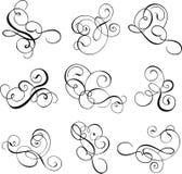 漩涡花饰装饰滚动向量 向量例证