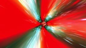 漩涡超空间隧道蠕虫孔时间和空间,无缝的圈,经线科幻背景3D动画4K 向量例证