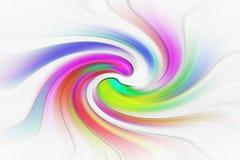 漩涡转动旋转旋转的背景眩晕漩涡波浪颜色 向量例证
