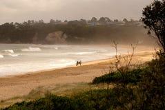漫步在海滩 免版税库存图片