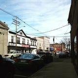 漫步在Keyport NJ 库存图片