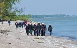 漫步海滩 库存图片