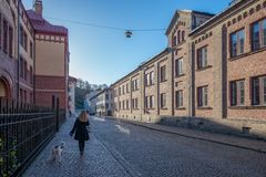 漫步Haga街道在哥特人 图库摄影