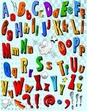 漫画书字母表 库存照片