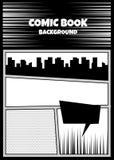 漫画书流行艺术黑白照片嘲笑 免版税库存照片