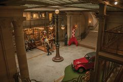 漫画美术馆的主要大厅在布鲁塞尔 库存图片